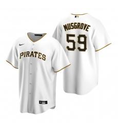Men's Nike Pittsburgh Pirates #59 Joe Musgrove White Home Stitched Baseball Jersey