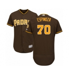 Men's San Diego Padres #70 Anderson Espinoza Brown Alternate Flex Base Authentic Collection Baseball Player Jersey
