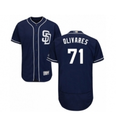 Men's San Diego Padres #71 Edward Olivares Navy Blue Alternate Flex Base Authentic Collection Baseball Player Jersey