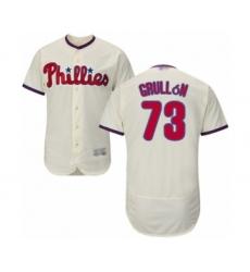 Men's Philadelphia Phillies #73 Deivy Grullon Cream Alternate Flex Base Authentic Collection Baseball Player Jersey