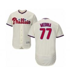 Men's Philadelphia Phillies #77 Adonis Medina Cream Alternate Flex Base Authentic Collection Baseball Player Jersey