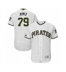 Men's Pittsburgh Pirates #79 Williams Jerez White Alternate Authentic Collection Flex Base Baseball Player Jersey