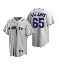 Men's Nike New York Mets #65 Robert Gsellman Gray Road Stitched Baseball Jersey