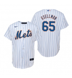 Men's Nike New York Mets #65 Robert Gsellman White Home Stitched Baseball Jersey