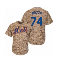 Men's New York Mets #74 Chris Mazza Authentic Camo Alternate Cool Base Baseball Player Jersey