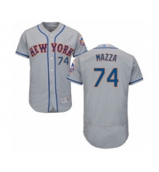 Men's New York Mets #74 Chris Mazza Grey Road Flex Base Authentic Collection Baseball Player Jersey