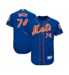 Men's New York Mets #74 Chris Mazza Royal Blue Alternate Flex Base Authentic Collection Baseball Player Jersey