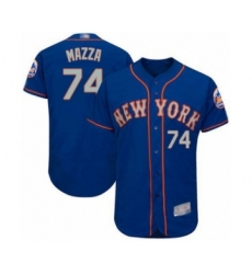 Men's New York Mets #74 Chris Mazza Royal Gray Alternate Flex Base Authentic Collection Baseball Player Jersey