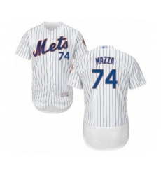 Men's New York Mets #74 Chris Mazza White Home Flex Base Authentic Collection Baseball Player Jersey