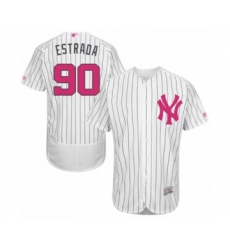 Men's New York Yankees #90 Thairo Estrada Authentic White 2016 Mother's Day Fashion Flex Base Baseball Player Jersey