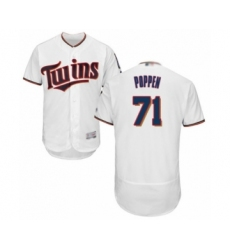 Men's Minnesota Twins #71 Sean Poppen White Home Flex Base Authentic Collection Baseball Player Jersey