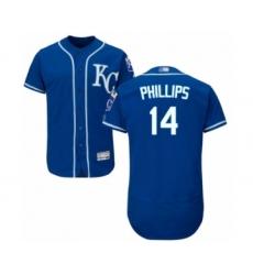 Men's Kansas City Royals #14 Brett Phillips Royal Blue Alternate Flex Base Authentic Collection Baseball Player Jersey