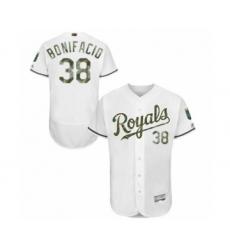 Men's Kansas City Royals #38 Jorge Bonifacio Authentic White 2016 Memorial Day Fashion Flex Base Baseball Player Jersey