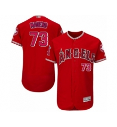 Men's Los Angeles Angels of Anaheim #73 Luis Madero Red Alternate Flex Base Authentic Collection Baseball Player Jersey