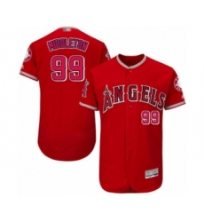 Men's Los Angeles Angels of Anaheim #99 Keynan Middleton Red Alternate Flex Base Authentic Collection Baseball Player Jersey