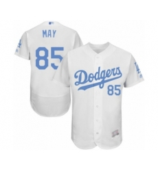 Men's Los Angeles Dodgers #85 Dustin May Authentic White 2016 Father's Day Fashion Flex Base Baseball Player Jersey