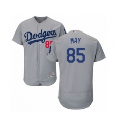 Men's Los Angeles Dodgers #85 Dustin May Gray Alternate Flex Base Authentic Collection Baseball Player Jersey