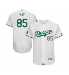 Men's Los Angeles Dodgers #85 Dustin May White Celtic Flexbase Authentic Collection Baseball Player Jersey