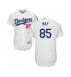 Men's Los Angeles Dodgers #85 Dustin May White Home Flex Base Authentic Collection Baseball Player Jersey