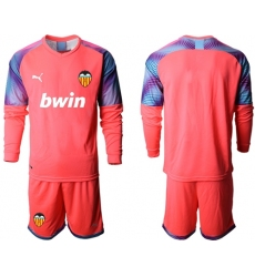 Valencia Blank Red Goalkeeper Soccer Club Jersey