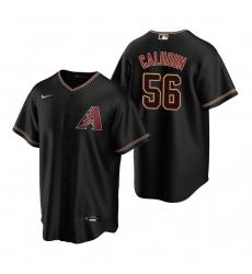 Men's Nike Arizona Diamondbacks #56 Kole Calhoun Black Alternate Stitched Baseball Jersey