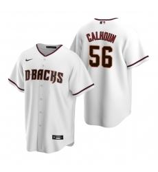 Men's Nike Arizona Diamondbacks #56 Kole Calhoun White Home Stitched Baseball Jersey