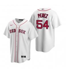 Men's Nike Boston Red Sox #54 Martin Perez White Home Stitched Baseball Jersey