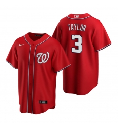 Men's Nike Washington Nationals #3 Michael A. Taylor Red Alternate Stitched Baseball Jersey