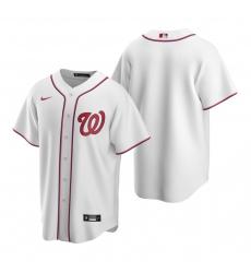 Men's Nike Washington Nationals Blank White Home Stitched Baseball Jersey