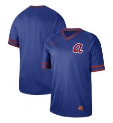 Men's Nike Atlanta Braves Blank Cooperstown Collection Legend V-Neck Jersey Royal