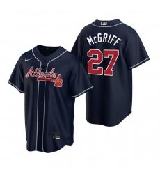 Men's Nike Atlanta Braves #27 Fred McGriff Navy Alternate Stitched Baseball Jersey