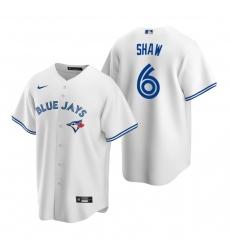 Men's Nike Toronto Blue Jays #6 Travis Shaw White Home Stitched Baseball Jersey