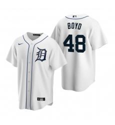 Men's Nike Detroit Tigers #48 Matthew Boyd White Home Stitched Baseball Jersey