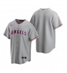 Men's Nike Los Angeles Angels Blank Gray Road Stitched Baseball Jersey