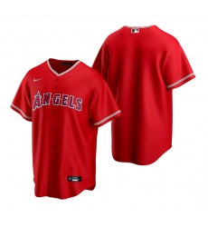 Men's Nike Los Angeles Angels Blank Red Alternate Stitched Baseball Jersey