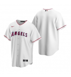 Men's Nike Los Angeles Angels Blank White Home Stitched Baseball Jersey