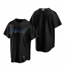 Men's Nike Miami Marlins #22 Sandy Alcantara Black Alternate Stitched Baseball Jersey