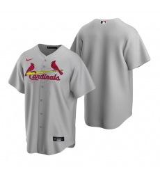 Men's Nike St. Louis Cardinals Blank Gray Road Stitched Baseball Jersey