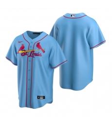 Men's Nike St. Louis Cardinals Blank Light Blue Alternate Stitched Baseball Jersey
