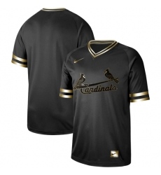 Men's Nike St.Louis Cardinals Blank Black Gold Authentic Stitched Baseball Jersey