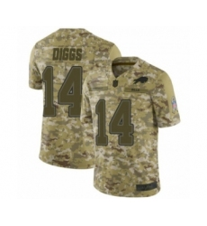 Buffalo Bills #14 Stefon Diggs Limited Camo 2018 Salute to Service Football Jersey