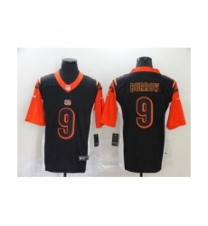 Cincinnati Bengals #9 Joe Burrow Silver Inverted Legend Jersey