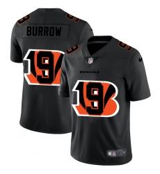 Men's Cincinnati Bengals #9 Joe Burrow Black Nike Black Shadow Edition Limited Jersey