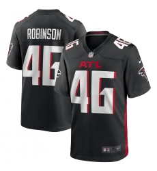 Men's Atlanta Falcons #46 Edmond Robinson Nike Black Game Player Jersey