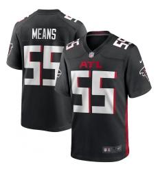 Men's Atlanta Falcons #55 Steven Means Nike Black Game Player Jersey