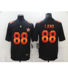Men's Dallas Cowboys #88 CeeDee Lamb Black colorful Nike Limited Jersey