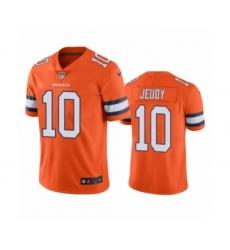 Denver Broncos #10 Jerry Jeudy Color Rush Limited Orange Jersey