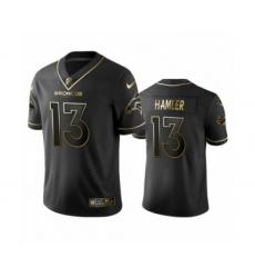 Denver Broncos #13 K.J. Hamler Black Golden Edition Vapor Limited Jersey