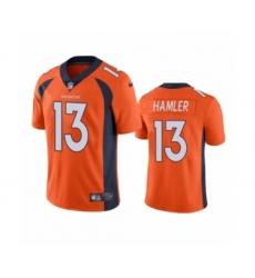 Denver Broncos #13 K.J. Hamler Orange Vapor Untouchable Limited Jersey