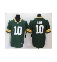Green Bay Packers #10 jordan love Green Team Color Vapor Untouchable Limited Player Football Jersey